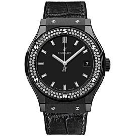 Hublot Classic Fusion 581.cm.1171.lr.1104 Quartz Diamonds Ceramic 33mm Watch