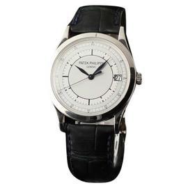 Patek Philippe Calatrava 5296G Automatic Silver Dial 18K White Gold Mens Watch