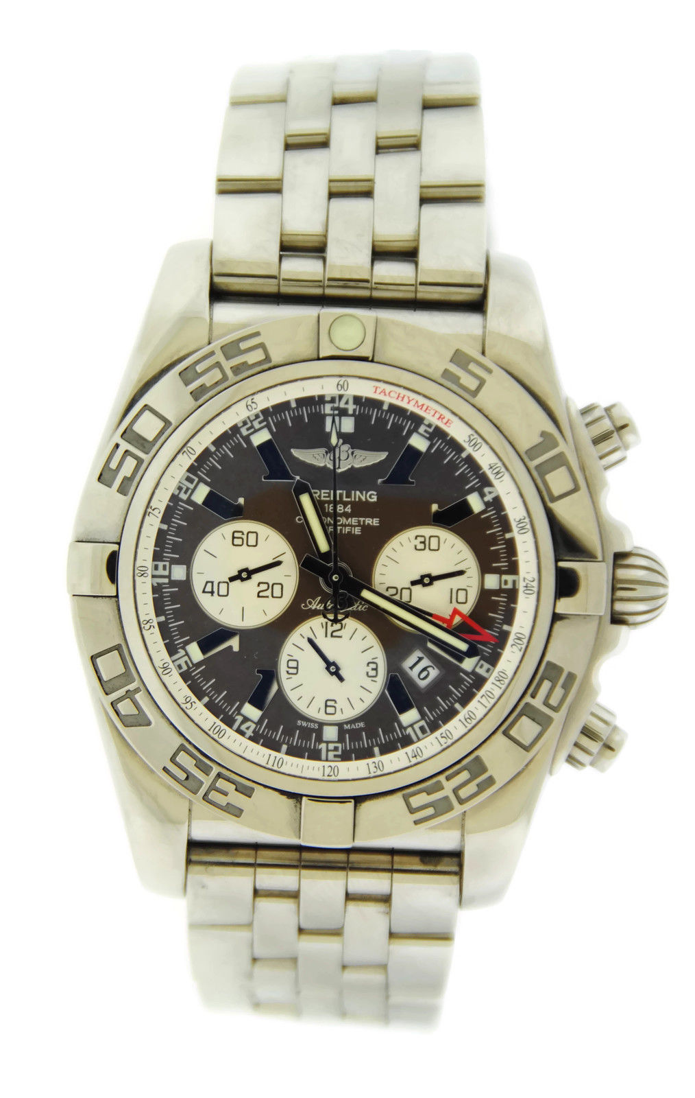 "Image of ""Breitling Chronomat 44 GMT Ab041012/q586 Brown Dial Stainless Steel"""