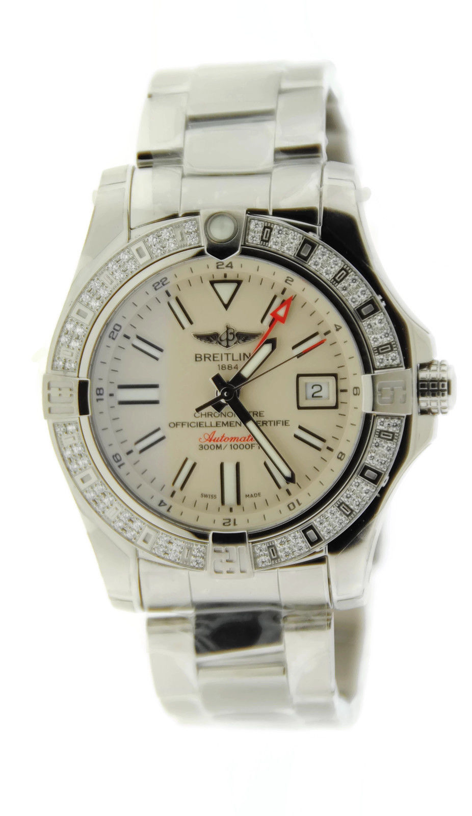 """Image of """"Breitling Avenger II GMT A32390 Diamond Stainless Steel Watch"""""""