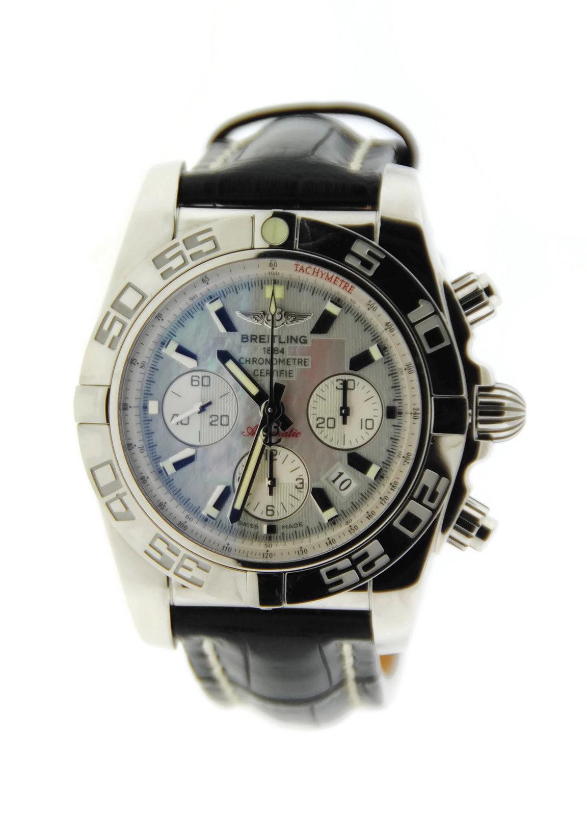 "Image of ""Breitling Chronomat 44 Ab011012 Stainless Steel Watch"""
