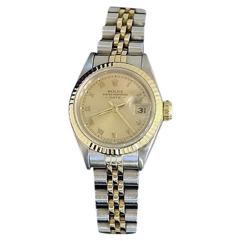 "Image of ""Rolex Date 69173 Two Tone 18K Yellow Gold Steel With Jubilee Band"""