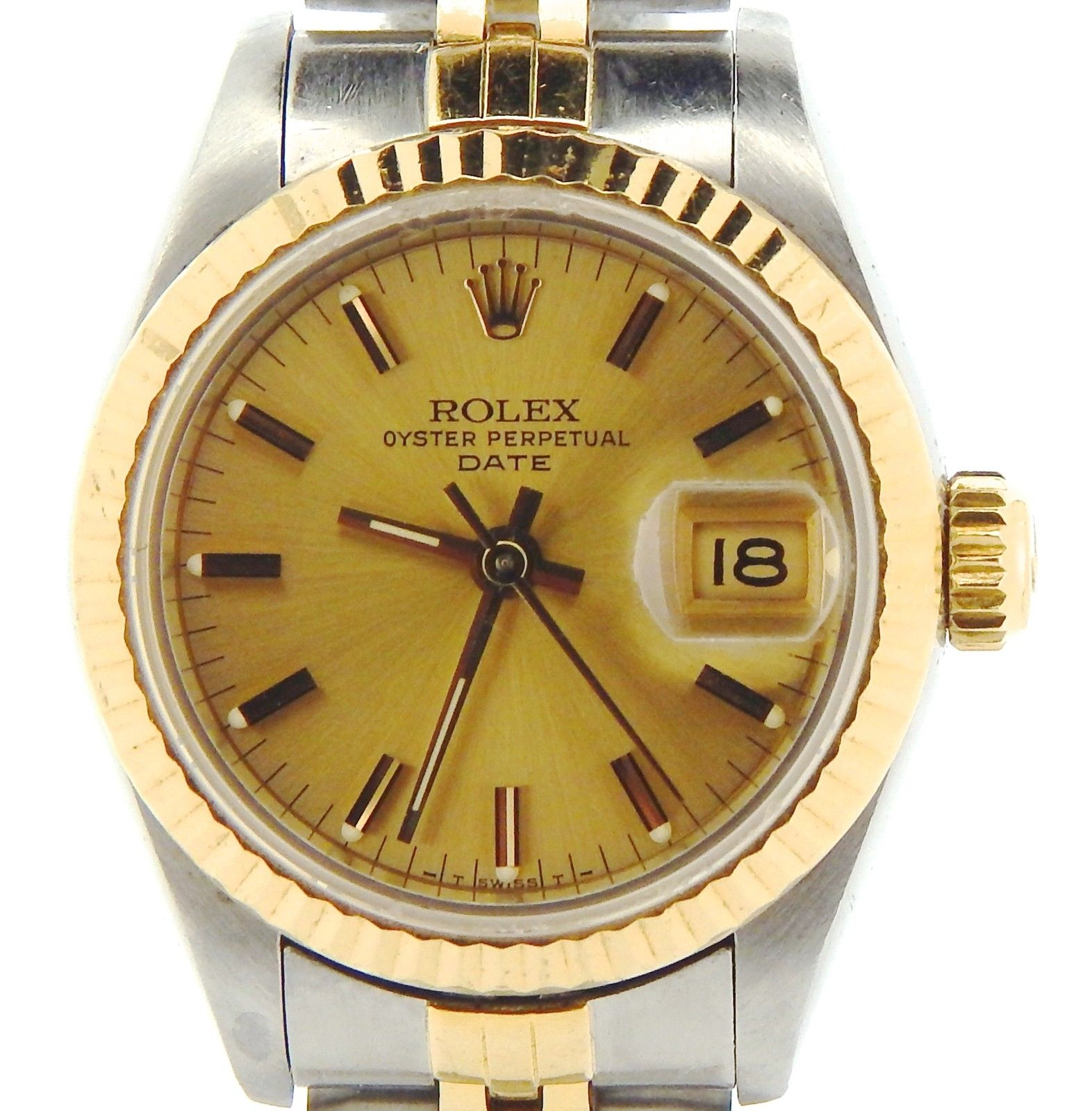 """Image of """"Rolex Date 69173 18K Yellow Gold & Stainless Steel Jubilee Band"""""""