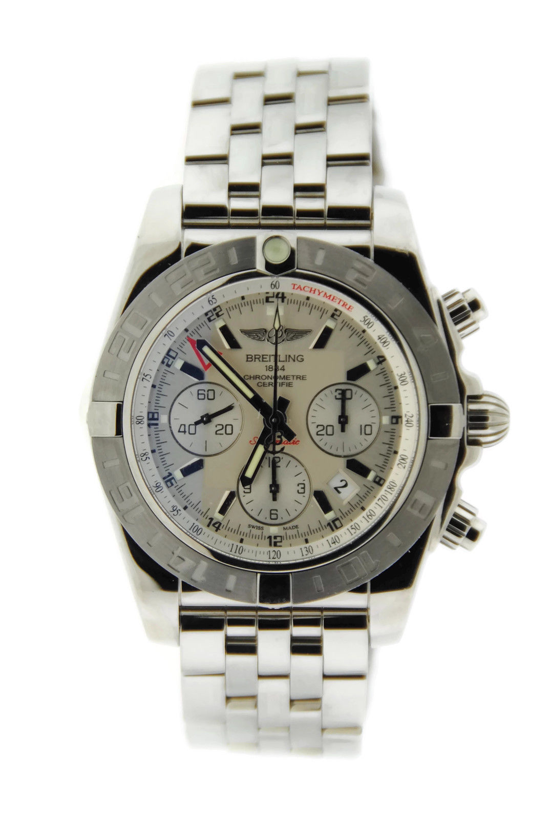 "Image of ""Breitling Chronomat 44 GMT Ab042011/g745 Stainless Steel Mens Watch"""