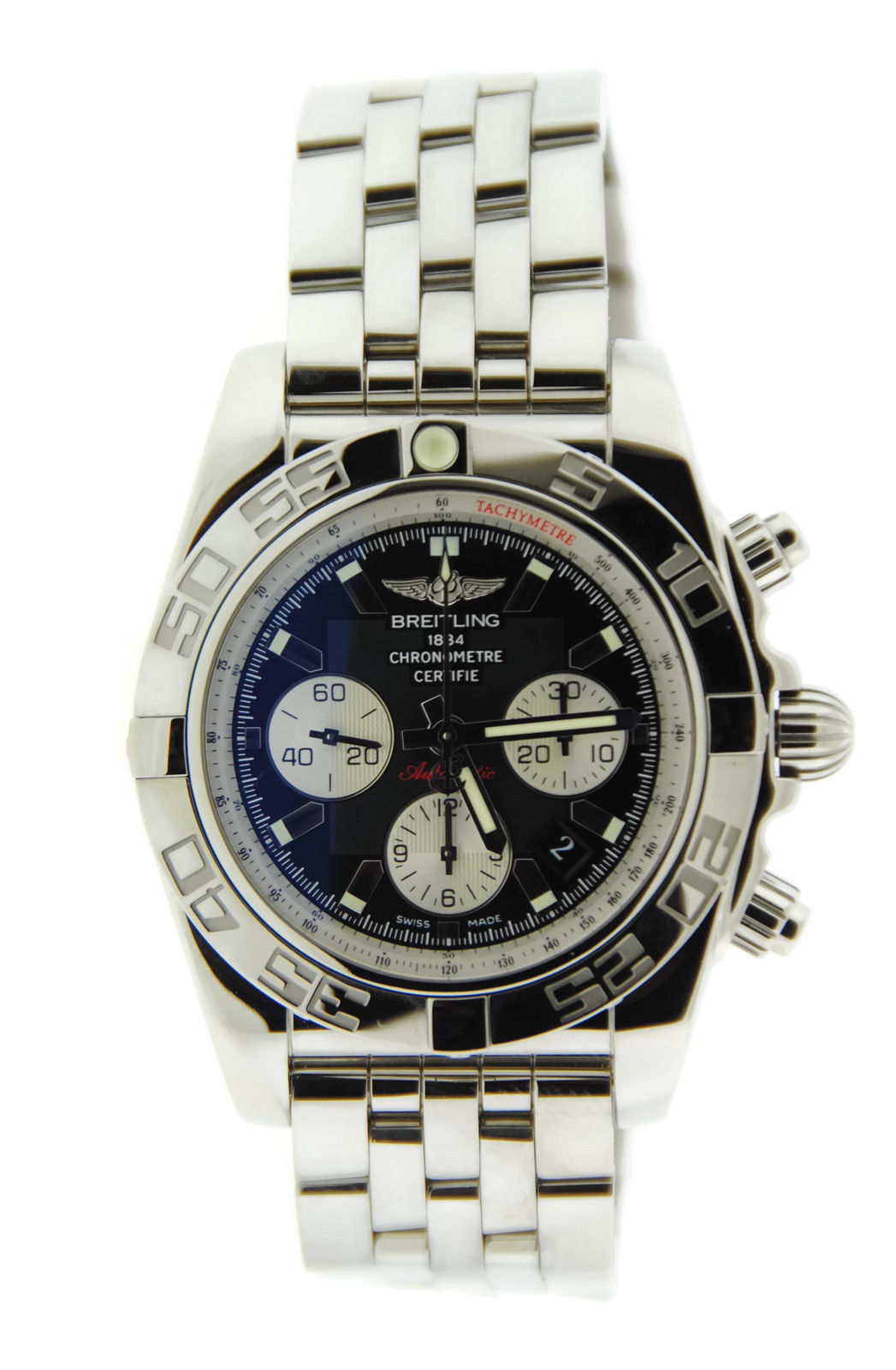 """Image of """"Breitling Chronomat 44 Ab011012 Stainless Steel Mens Watch"""""""