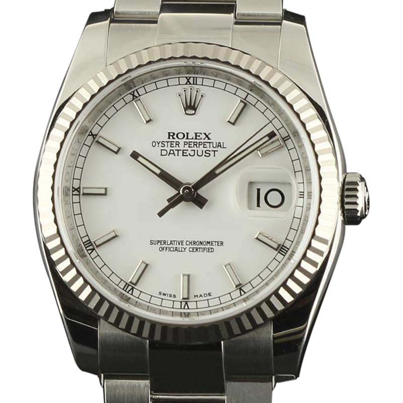 """Image of """"Rolex Datejust 116234 WSO Stainless Steel Gold Black Automatic 36mm"""""""