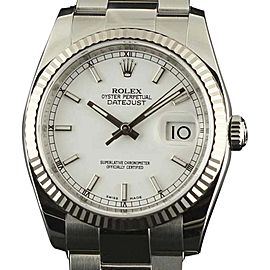 Rolex Datejust 116234 WSO Stainless Steel Gold Black Automatic 36mm Unisex Watch