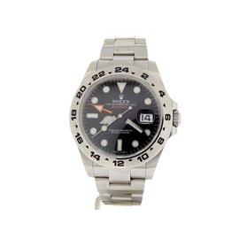 Rolex Explorer II 216570 Stainless Steel Orange Hand Black Dial 42mm Watch
