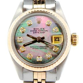Rolex Datejust Two Tone 14K Yellow Gold & Stainless Steel Womens Watch