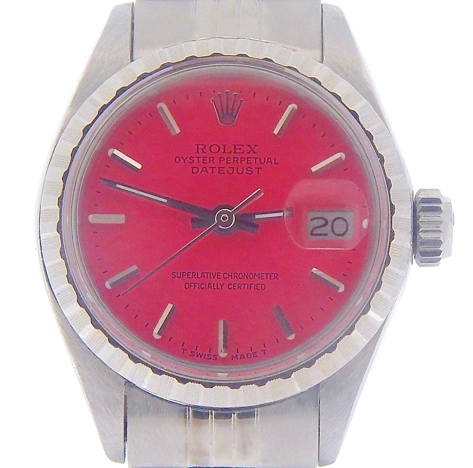 """Image of """"Rolex Datejust 6924 Stainless Steel Oval Link Jubilee Band Pink Dial"""""""