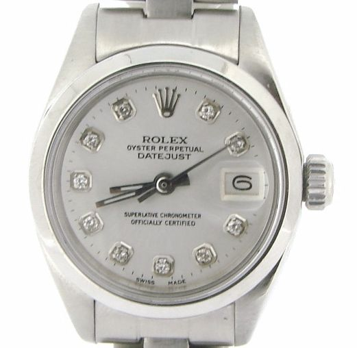 "Image of ""Rolex Datejust 6916 Stainless Steel Oyster Band White Diamond Dial"""