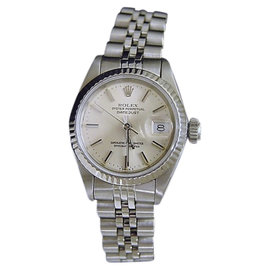 Rolex Datejust 69174 Stainless Steel & 18K White Gold Womens Watch