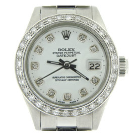 Rolex Datejust 6917 Stainless Steel With White Diamond Dial Womens Watch