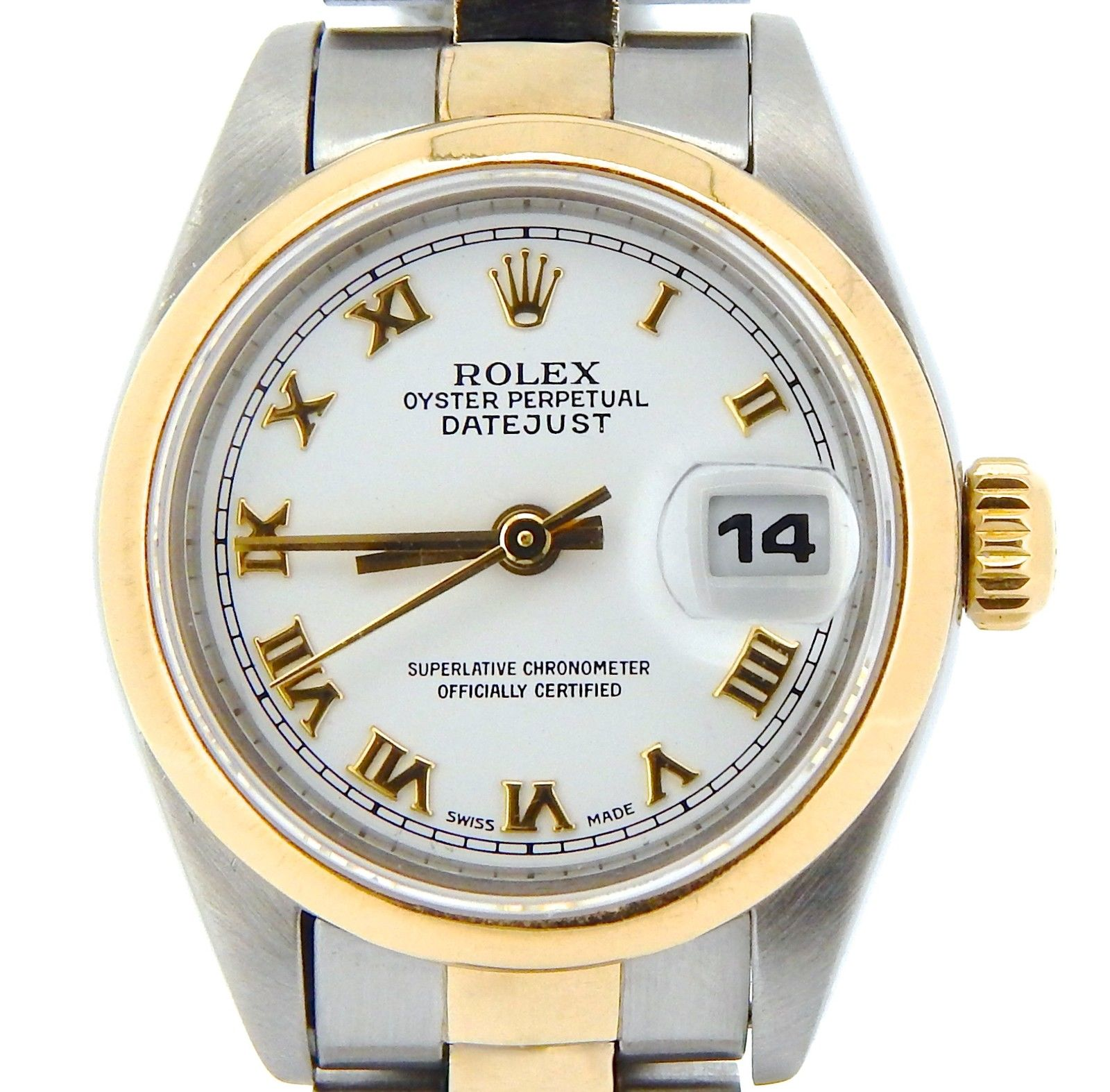 "Image of ""Rolex Datejust 69163 18K Yellow Gold & Stainless Steel With White"""