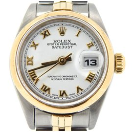 Rolex Datejust 69163 Two Tone 18K Yellow Gold & Stainless Steel Womens Watch