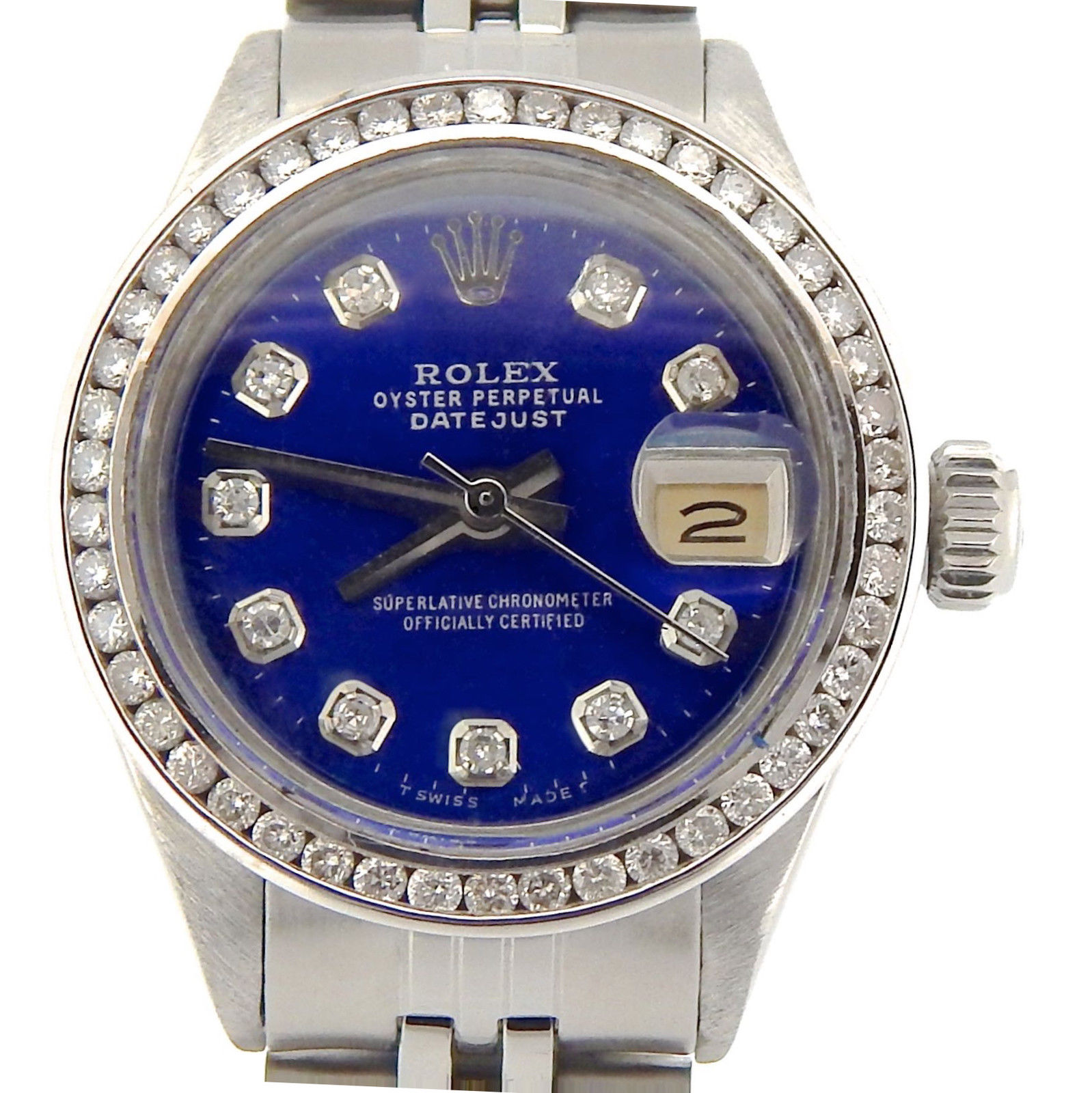 "Image of ""Rolex Datejust Stainless Steel Womens Watch"""