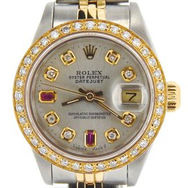Rolex Datejust 69173 18K Yellow Gold & Stainless Steel Womens Watch