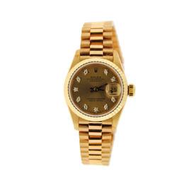 Rolex Oyster Perpetual Datejust 69178 Diamond 18K Yellow Gold Watch