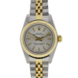 Rolex 76193 18k Yellow Gold and Stainless Steel Oyster Perpetual 24mm Watch