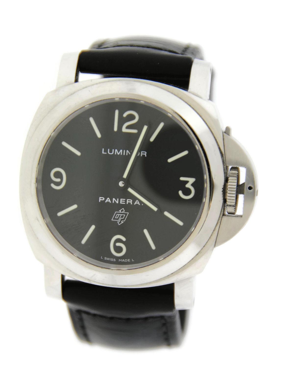 """Image of """"Panerai Luminor Pam000 Logo Stainless Steel 44mm Mens Watch"""""""