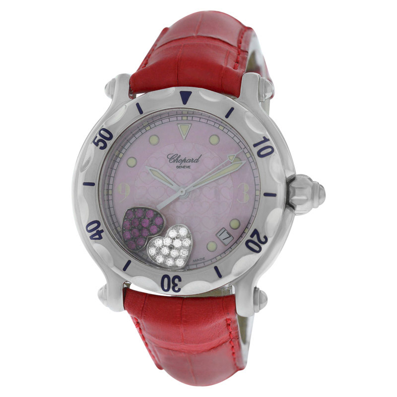 """Image of """"Chopard Happy Sport 28/8950 Stainless Steel Floating Hearts Diamond"""""""