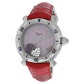 Chopard Happy Sport 28/8950 Stainless Steel Floating Hearts Diamond Quartz 38mm Womens Watch