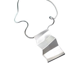 Tiffany & Co. Sterling Silver Frank Gehry Large Torque Fold Pendant Necklace