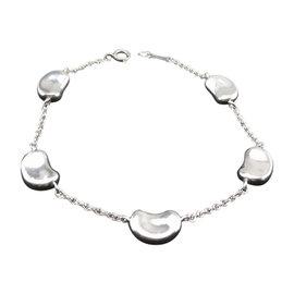 Tiffany & Co. Retired Elsa Peretti Sterling Silver Five Bean Bracelet