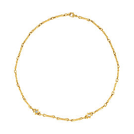 Judith Ripka 18k Yellow Gold and 0.20ct Diamond Necklace