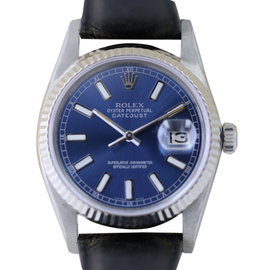 Rolex Datejust 16014 Stainless Steel & Blue Dial 36mm Mens Watch