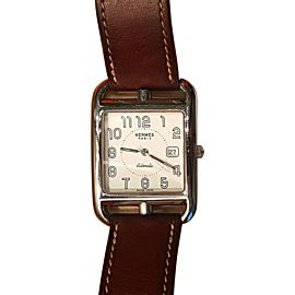 Hermes Cape Cod CC1.710 Stainless Steel & Leather Automatic 29mm Unisex Watch