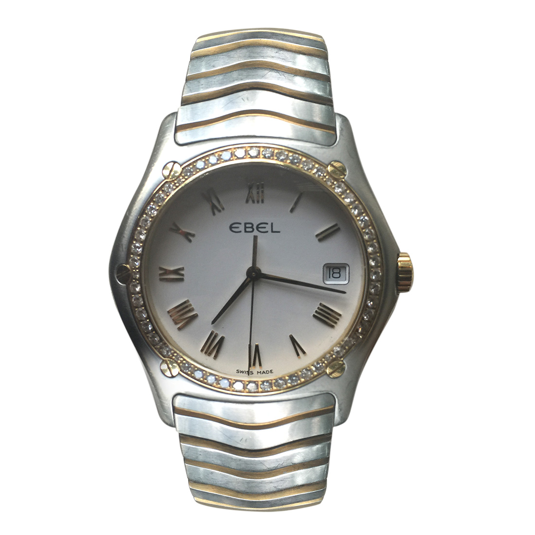 """Image of """"Ebel Sportwave 1187F44 18K Yellow Gold and Stainless Steel Diamond"""""""