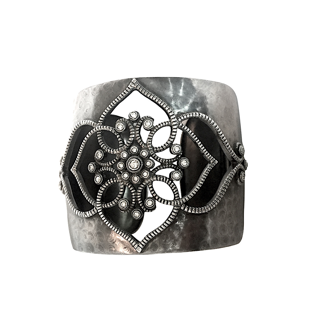 "Image of ""Leslie Greene Sterling Silver and Diamond Cuff Bracelet"""