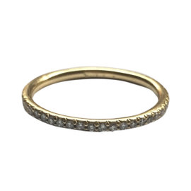 Erica Courtney 18K Yellow Gold Diamond Eternity Ring Size 6