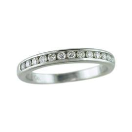 Tiffany & Co. Platinum 0.24 Ct Diamond Wedding/Anniversary Ring Size 4.5