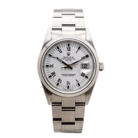 Rolex Date 15200 Oyster Perpetual Stainless Steel Automatic White Dial 34mm Watch