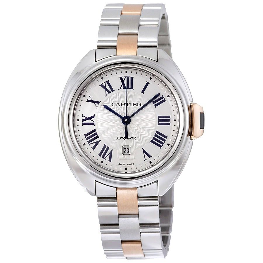 "Image of ""Cartier Cle W2Cl0004 3867 18K Rose Gold Stainless Steel Automatic"""