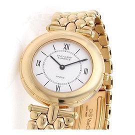 Van Cleef & Arpels 13107 18k Yellow Gold Quartz 31mm Watch