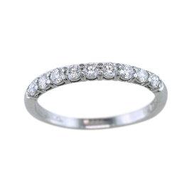 Tiffany & Co. Platinum 0.27 Ct Diamond Wedding Anniversary Band Ring Size 4