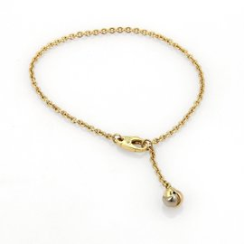 Cartier 18K Tri-Color Gold Knot Charm Chain Bracelet Size 6.75