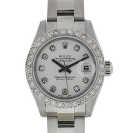 Rolex Datejust 179174 Stainless Steel & Diamond 26mm Watch