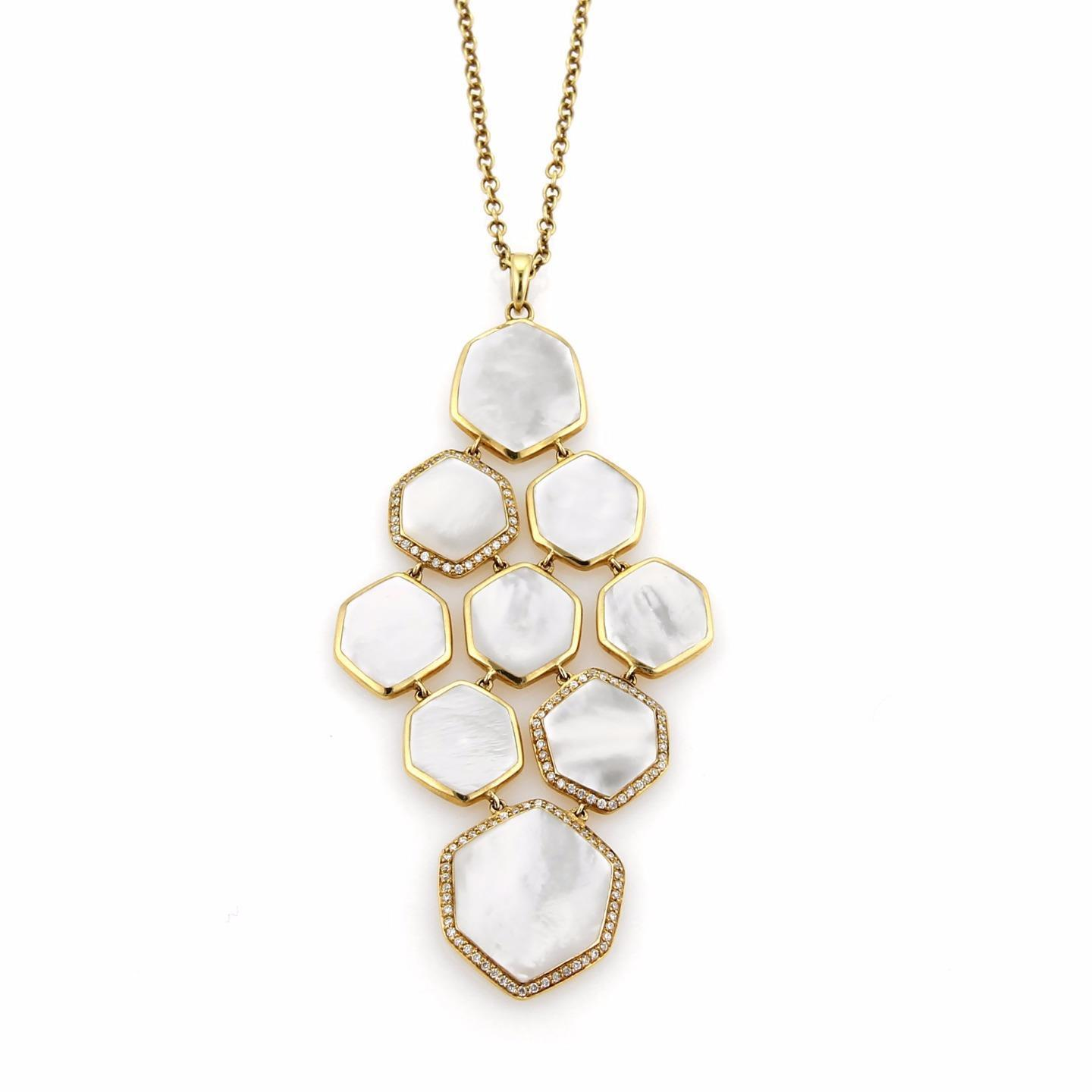 "Image of ""Ippolita 18K Yellow Gold Rock Candy Diamond & Mother of Pearl Cascade"""
