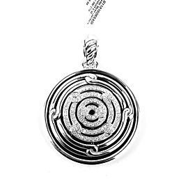 David Yurman Sterling Silver 1.4ct Diamonds Labyrinth Pendant