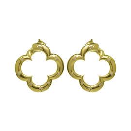 Van Cleef & Arpels Alhambra 18K Yellow Gold 0.56 Ct Diamond Earrings