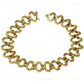 Van Cleef & Arpels Alhambra 18K Yellow Gold 2.24 Ct Diamond Necklace
