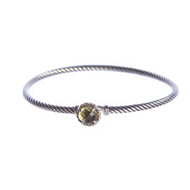 David Yurman Chatelaine 925 Sterling Silver with Lemon Citrine Bracelet