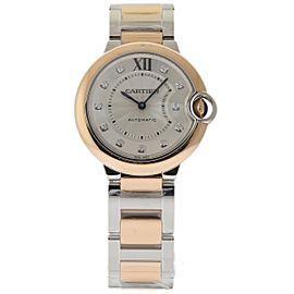 Cartier Ballon Bleu W3BB0007 Stainless Steel & 18K Pink Gold 36mm Womens Watch