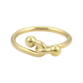 Tiffany & Co. 18K Yellow Gold Double Hoop Band Ring Size 6