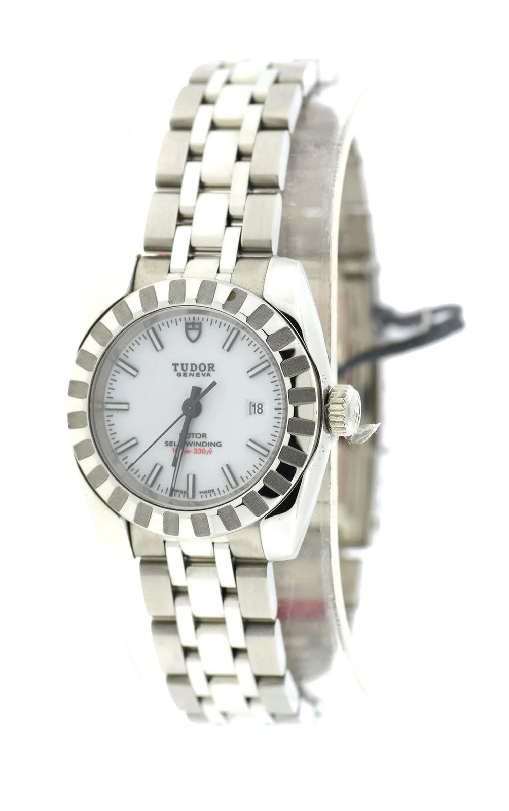 "Image of ""Tudor 22010 Classic White Dial Stainless Steel Automatic 28mm Womens"""