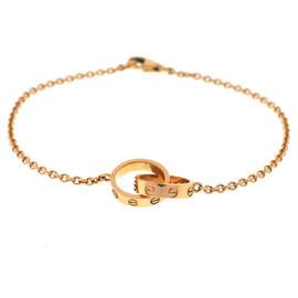 Cartier Interlocking Love 18K Rose Gold Bracelet 7''